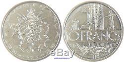 Piefort 10 Francs Mathieu Argent 1975 Sup A Fdc, Rare
