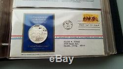 Postmasters of AMERICA Medallic First Day Covers 1973-1974 (44 silver medals)