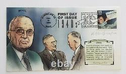 President Harry S. Truman Signed Autographed Cut Signature with Bevil FDC 126/200
