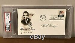 President Richard Nixon Signed PSA DNA Inauguration First Day Cover Autographed