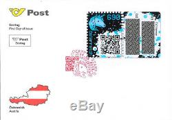 RAR BLAU (BLOCK) Kryptomarke Crypto stamp FDC RARITÄT