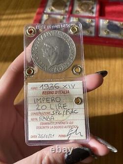 REGNO D' ITALIA IMPERO 20 LIRE 1936 XIV RARA sigillata SPL/FDC SUBALPINA