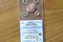 REGNO D' ITALIA VITTORIO EMANUELE II 10 LIRE 1863 TORINO ORO sigillata SPL/FDC