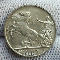 REGNO D'ITALIA, Vittorio Emanuele III 10 lire 1927 2R FDC Per. Cavaliere
