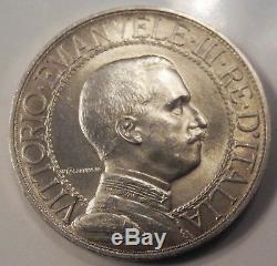 REGNO D' ITALIA Vittorio Emanuele III 2 lire Quadriga Veloce 1908 FDC eccez