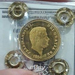 REGNO DELLE DUE SICILIE, 3 DUCATI 1854 Ferdinando II, FDC eccez. Proof-like