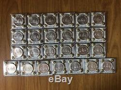 REPUBBLICA ITALIANA SERIE 25 MONETE LIRE 500 CARAVELLE 1968 2001 sigillate FDC