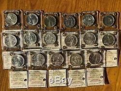 REPUBBLICA LOTTO 17 MONETE LIRE 500 1000 COMMEMORATIVE dal 1985 al 2001 FDC