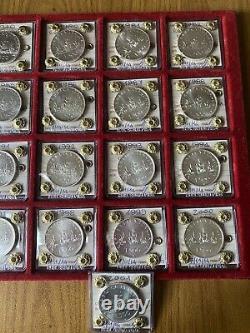 REPUBBLICA SERIE 25 MONETE LIRE 500 CARAVELLE 1968 2001 sigillate FDC