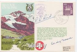 RETOUR EN SUISSE RAF escaping FDC Cover signed AIREY NEAVE & PAT REID RARE