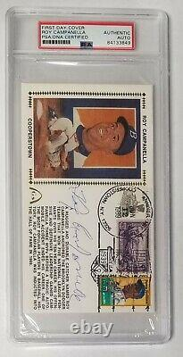 ROY CAMPANELLA Signed PSA/DNA First Day Cover Auto Autograph Authentic Signature