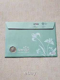 ROYAL MINT 2009 KEW GARDENS 50p In BRILLIANT UNCIRCULATED FDC, FIRST DAY COVER