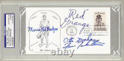 Red Grange Dick Butkus Otto Graham Auto Jim Thorpe First Day Cover PSA/DNA HOF