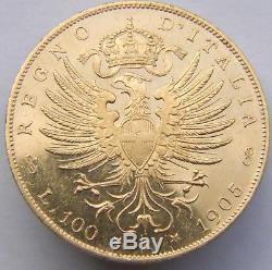 Regno D'italia Vittorio Emanuele III Lire 100 1905 Qfdc-fdc Rr (id 76505)