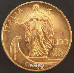 Regno D'italia Vittorio Emanuele III Lire 100 1931 Anno IX Fdc (id 52465)
