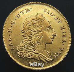 Regno DI Napoli Carlo DI Borbone 6 Ducati 1752 Fdc, Raro (id 55899)