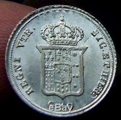 Regno Due Sicilie Ferdinando II 10 Grana 1835 Fdc Fondi Spedulari Rr (id47395)