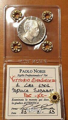 Regno d'Italia 1 LIRA 1901 FDC