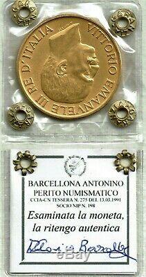 Regno d'Italia Re V Emanuele III Moneta 100 Lire oro 1923 Fascione SPL FDC