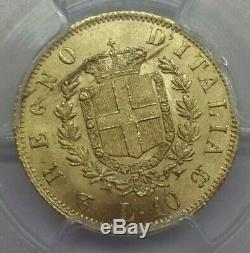 Regno d'Italia V. E. II 10 Lire 1863 Torino periziata qFDC/FDC