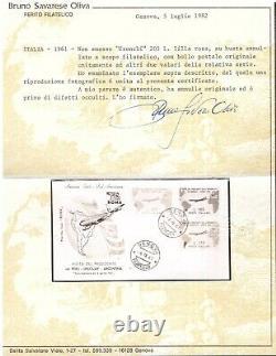 Repubblica, Gronchi Rosa su busta primo giorno fdc (cert. Savarese) -DH09