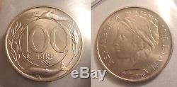 Repubblica Italiana 100 Lire 1993 Italia Turrita Testa Piccola Fdc Rara