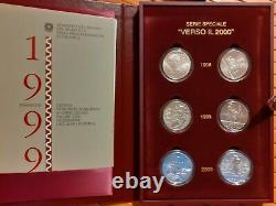 Repubblica Italiana Serie Speciale Verso IL 2000 6 Monete Fdc Conf Zecca