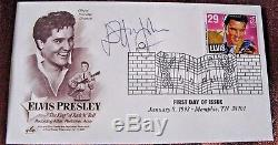 Rock Star Elton John Signed, Artcraft First Day Cover, Honoring Elvis Presley