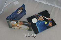 Roger Federer silver coin folder CHF 20 Franken Francs 2020 Switzerland svizzera