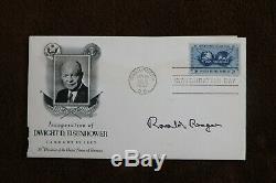 Ronald Reagan Signed FDC BOLD SIGNATURE JSA LOA 40th President Rare AUTO