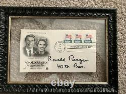 Ronald Reagan signed FDC / 100% Authentic