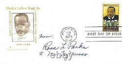 Rosa Parks signed Martin Luther King FDC cover Mother Civil Rights bus boycott