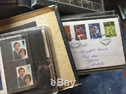 Royal Mail First Day Cover Collection 342 FDCs & mint stamps 1970 to 2000 Mint
