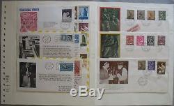S1935 Vatikan Sammlung 600 Belege Papstreisen + FDC + postfrisch 1966 1983