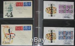S606 Ersttagsbriefe Großbritannien 860 FDC meist echt gelaufen 1940 2007