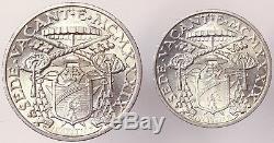 SEDE VACANTE 10 + 5 LIRE 1939 VATICANO argento Fdc/Unc #4741