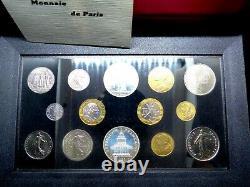 SÉRIE FLEUR DE COINS FRANCE 1989 FDC rare en 1989 avec 10F MONTESQUIEU