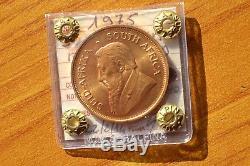 SUD AFRICA KRUGERRAND 1975 1 ONCIA ORO FINO 31,1 grammi sigillata FDC SUBALPINA