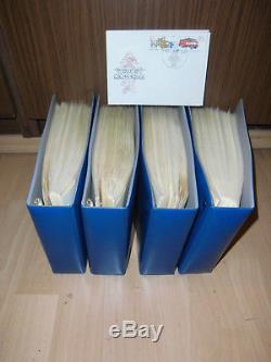 Sammlung DDR FDC 1976-1986 ca. 400 Ersttagsbriefe sehr sauber 4 Alben (60095)