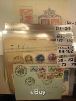 Sammlung Vatikan FDC 56 Ersttagsbriefe 1939-1959 ab 1953 komplett (52055)
