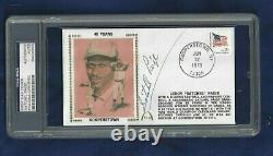 Satchel Paige Negro League Baseball HOFer Autographed First Day Cover PSA SLAB