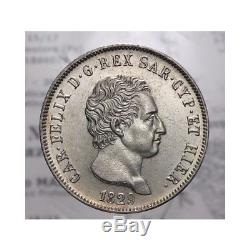 Scudo da 5 Lire 1829 P Genova (Sardegna Carlo Felice) FDC LOT1378