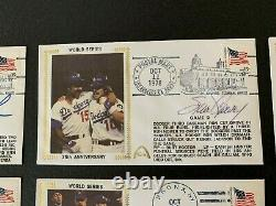 Set of 8 Gateway FDC Cachets 1978 World Series With 6 Autographs & 3 HOF
