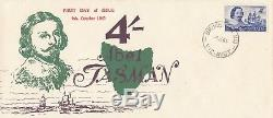 Stamp Australia 4/- blue Tasman navigator on 1963 Eric Ogden specific cachet FDC