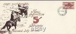 Stamp Australia 5/- brown cattle herding on 1961 Eric Ogden specific cachet FDC