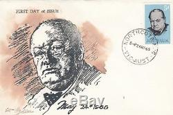 Stamp Australia 5d Winston Churchill on 1965 Eric Ogden specific cachet FDC