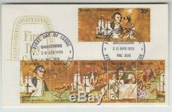 Stamps 1970 Captain Cook set of 6 on small format official emblem FDC rare item