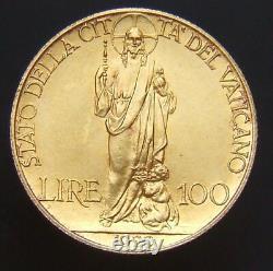Stato Della Citta' Del Vaticano Pio XI Lire 100 1929 Fdc (id 89481)