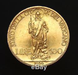 Stato Della Citta' Del Vaticano Pio XI Lire 100 1936 Fdc (id 89483)