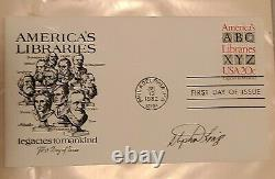 Stephen King Signed FDC envelope Autograph PSA AUTHENTICATED